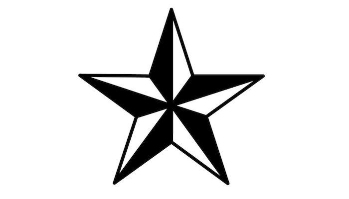 idee für einen schwarzen großen tattoo mit einem schwarzen großen stern - tattoo sterne