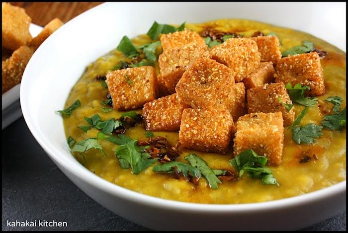 tofu rezept suppe mit tofu knusprige tofustücke in der suppe anstelle von brot verwenden ideen asiatisch exotisch kochen
