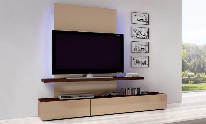 Wohnwand Weiß Wanddeko Wandbilder Wandideen Großer Fernseher Inches Beige  Regale 80 Fernsehwand Ideen U2013 Was Ist Dabei Zu Berücksichtigen?