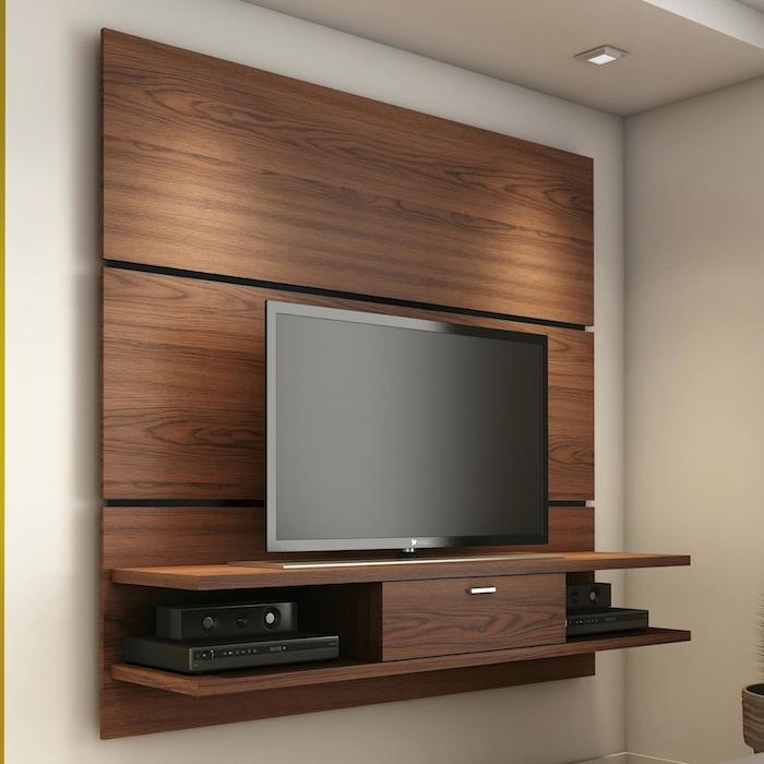 wohnwand wohnzimmer ideen einrichtung fernseher an der wand wanddeko in jedem zimmer