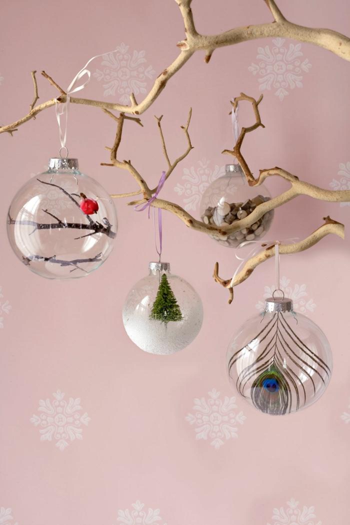 1001 diy ideen zum thema weihnachtsdeko basteln - Christbaumkugeln selber machen ...