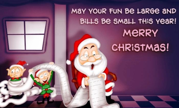 Lustige Weihnachtsgrüße für kleine Rechnungen und große Freude Fröhliche Weihnachten