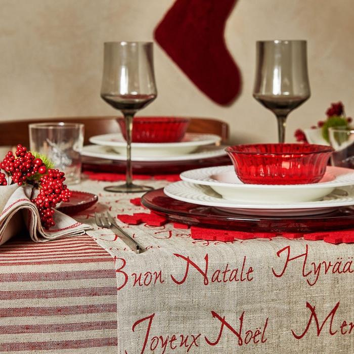 deko weihnachten dekorationen tisch dekorieren dezent und schön feine tischdeko