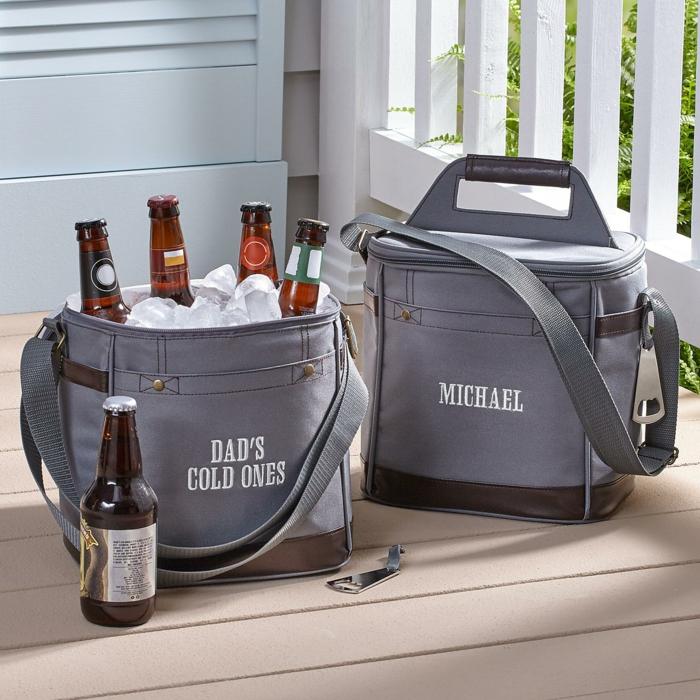 Weihnachtsgeschenk für den Freund, Kühltaschen für Bier mit Namen, personalisierte Geschenke