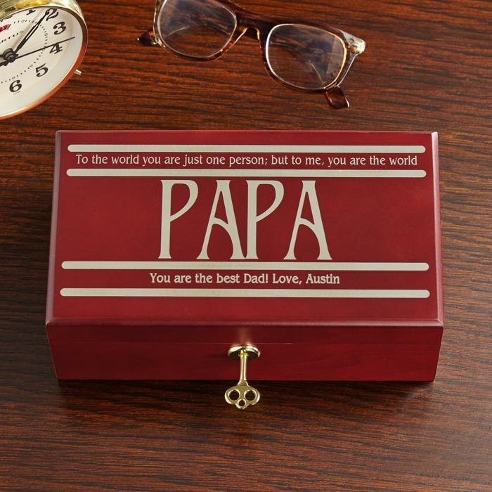 Personalisiertes Geschenk für Vater, du bist für mich die ganze Welt, Geschenkideen zu Weihnachten