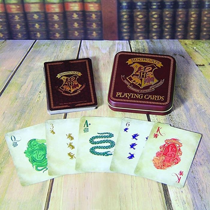 Hogwarts Spielkarten, das perfekte Weihnachtsgeschenk für Harry Potter Fans, Geschenkideen für Jüngen