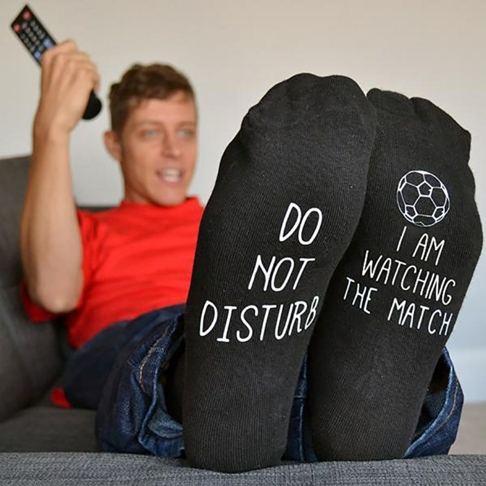 Lustige Socken für Fußballfans, Geschenkidee für Freund, Weihnachtsgeschenke für jeden Geschmack