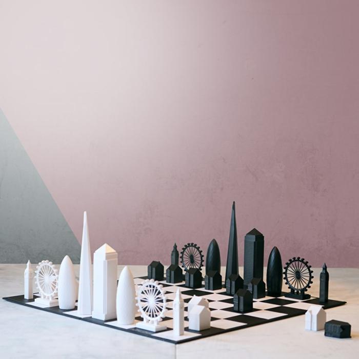 Weihnachtsgeschenk für Ehemann oder Freund, Schach mit London Sehenswürdigkeiten