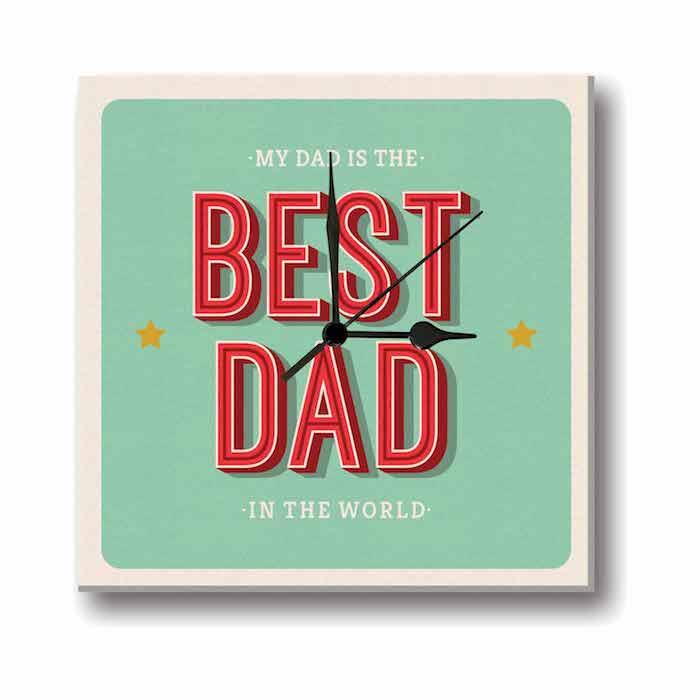 Der beste Vater der Welt steht auf der Uhr - Geschenkideen Eltern Weihnachten