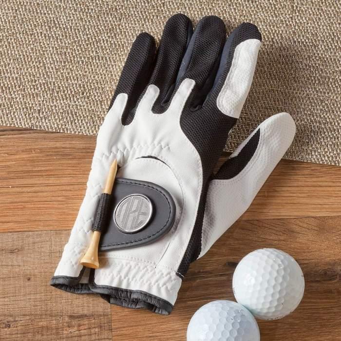 Weihnachtsgeschenke Eltern - ein Handschuh zum Golf und zwei Golfbälle Geschenk für Vater