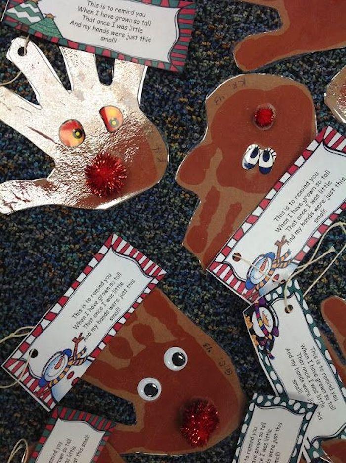 Handabdrücke von Kindern, die Sie als klein gemacht haben- Geschenkideen Eltern Weihnachten