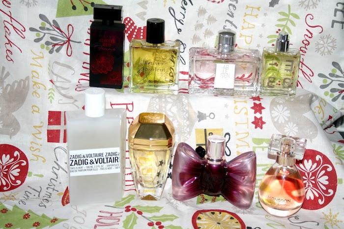 eine Serie aus weihnachtlichen Parfums für Männer und Frauen - Geschenkideen Eltern Weihnachten