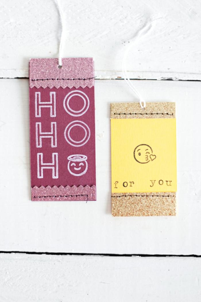 Romantische Weihnachtskarten leicht gemacht, Küsse für dich, DIY Idee zum Inspirieren und Nachmachen