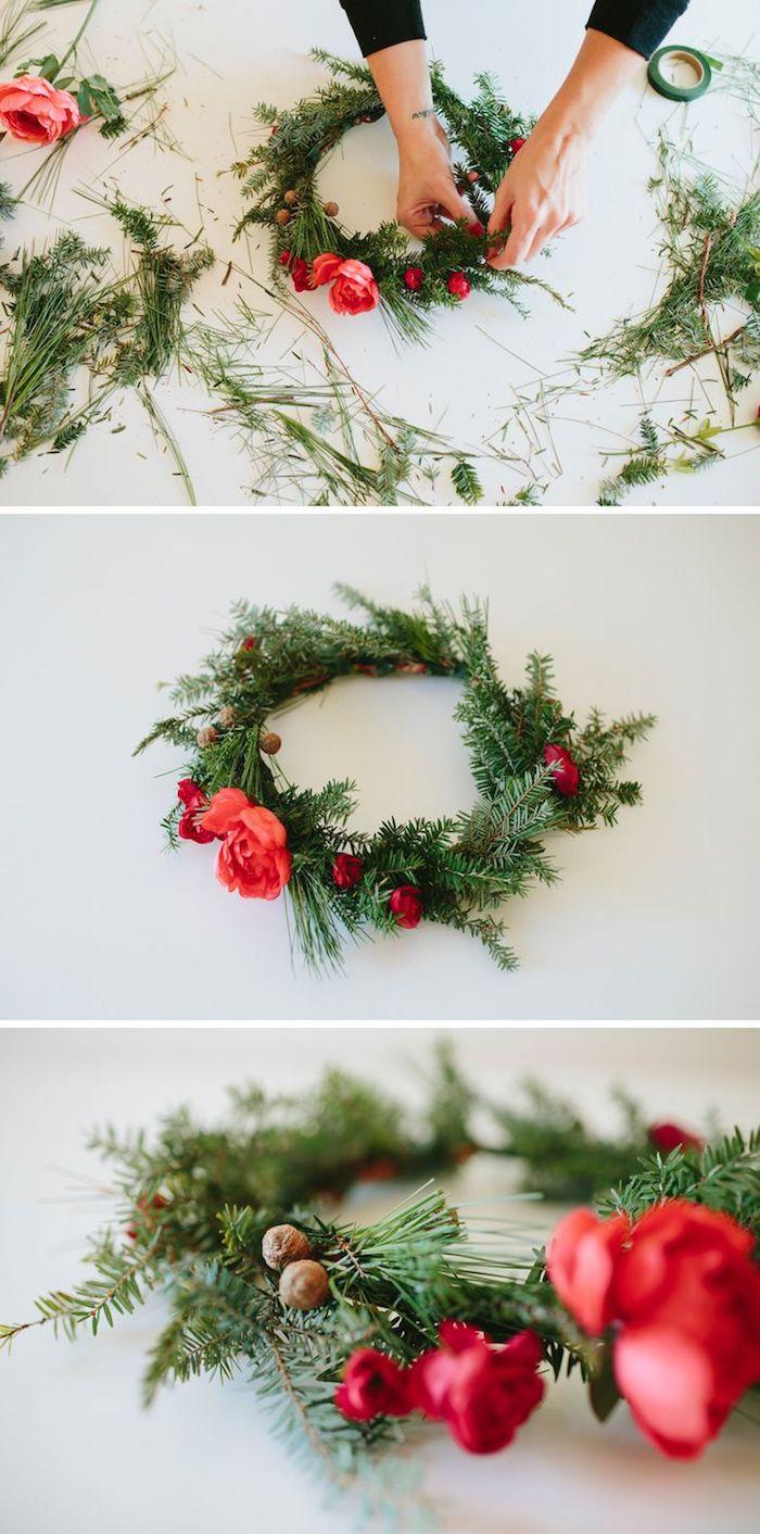 1001 ideen f r weihnachtsgestecke zum basteln - Rosa tannenbaum ...