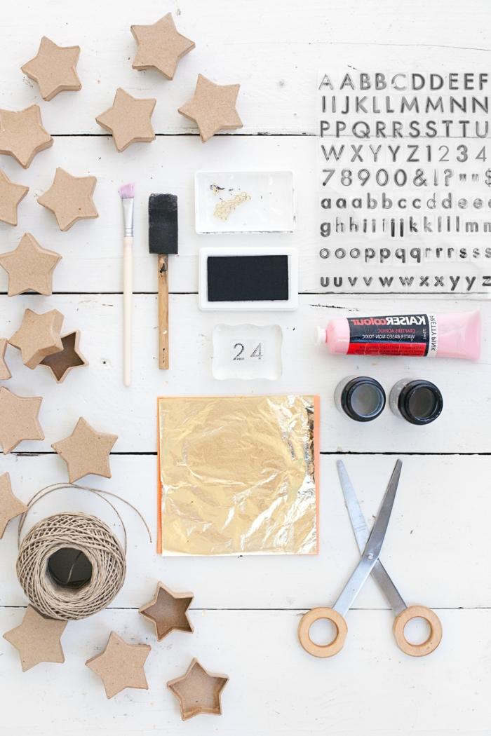 DIY Idee für Kinder und Erwachsene, Adventskalender aus kleinen Sternenschachteln selber basteln