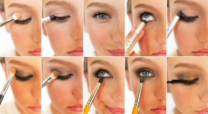 augen größer schminken, smokey eyes selber machen, make-up für blaue augen