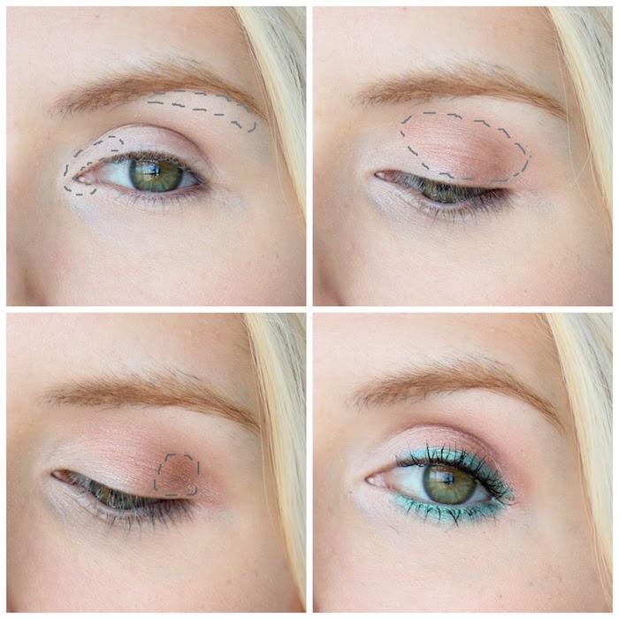 richtig schminken, lidschatten richtig auftragen, make-up für grüne augen