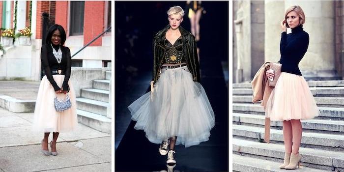 tutu rock damen weißer rock ideen wie man helle röcke mit dunklen oberteilen und accessoires kombiniert