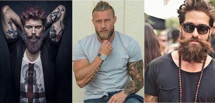 bart grau färben oder rosa blond rot welche farbe gefällt ihnen am besten tattoo bad boy look