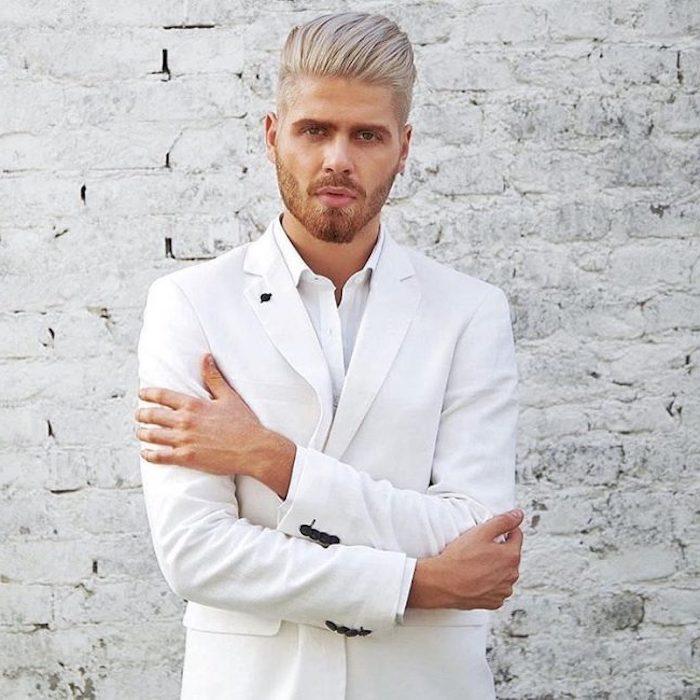 Männer weiße haare