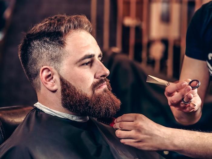 bart grau färben frisur für bart schere barbier besuchen bereit für eine veränderung