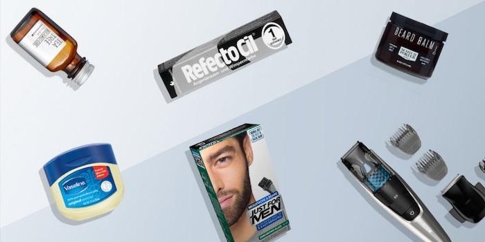 bart grau färben alles was der mann braucht um seinen bart schön zu pflegen rasiermaschine öl