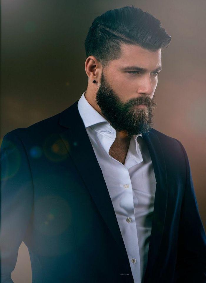 bart färben fotografer mann mit anzug elegant anzug und bart so anziehend mann mit stil männerstyle