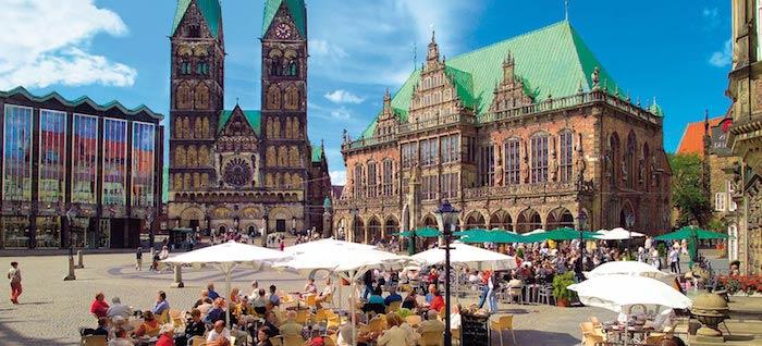 urlaubsorte top 10 beste städte in deutschland bremen bremer zentrum marktplatz dom rathaus cafe geschäfte