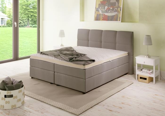 Hochqualitatives Boxspringbett, zur Einrichtung passend, garantiert höchsten Schlafkomfort
