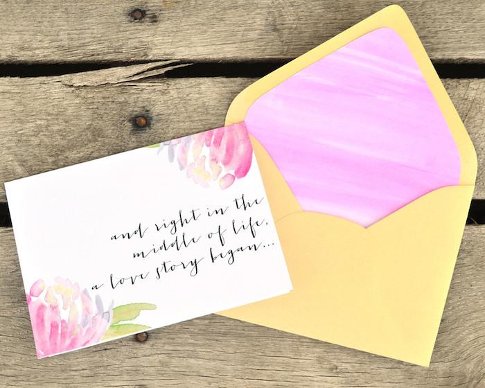 Briefumschlag falten - eine niedliche Karte mit Aufschrift in einem passenden Briefumschlag
