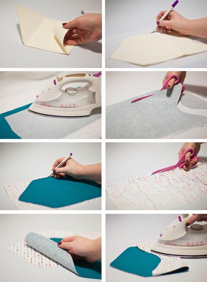 Umschlag basteln - wie Sie einen Umschlag selber nähen in einigen Schritten