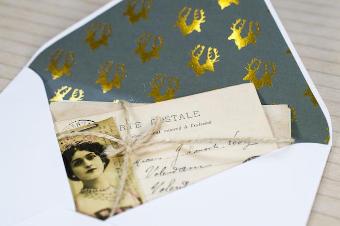 Briefumschläge basteln - ein vintage Briefumschlag mit thematik aus dem Beginn des 20. Jahrhunderts