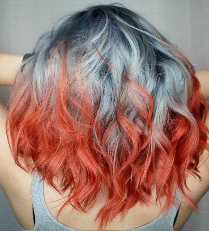 Bunte haarfarben blau