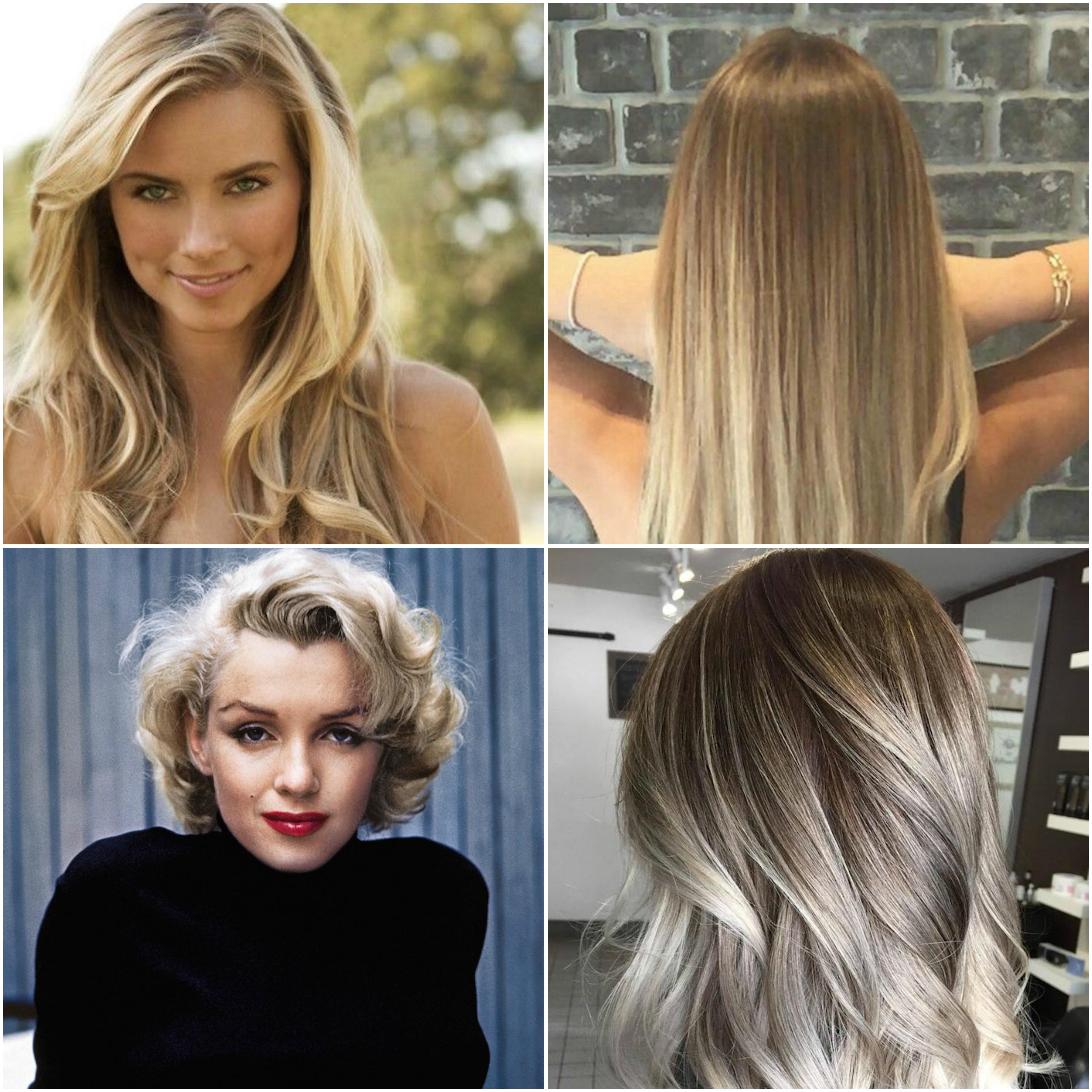 schöne Haare - vier Beispiele von der Haarfarbe dunkelblond, die ausgezeichnet aussehen