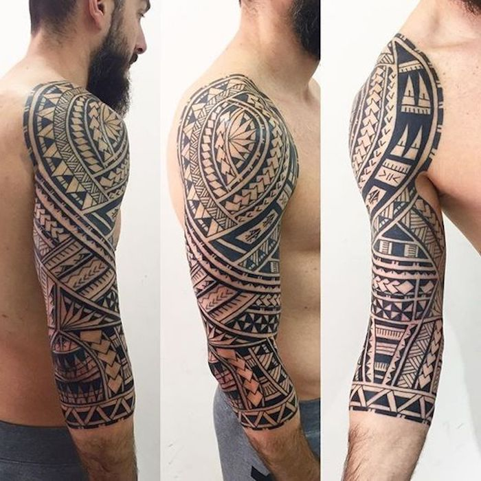 maorie tattoo oberarm polynesian half sleeve tattoo best tattoo ideas gallery maori tattoos. Black Bedroom Furniture Sets. Home Design Ideas