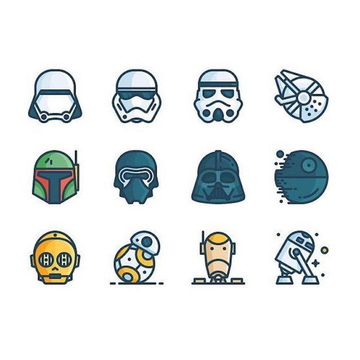 Groß Böse Vögel Star Wars Färbung Seiten Yoda Ideen ...