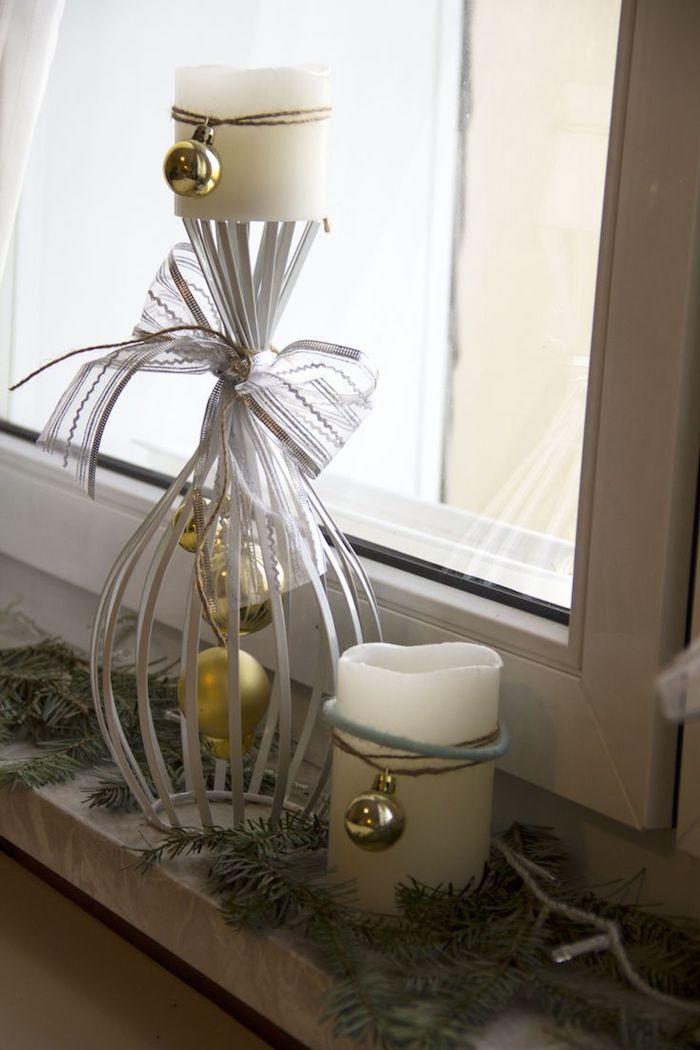 weihnachtsfensterdeko kerzen dekorationen schöne ideen zum gestalten deko bunt