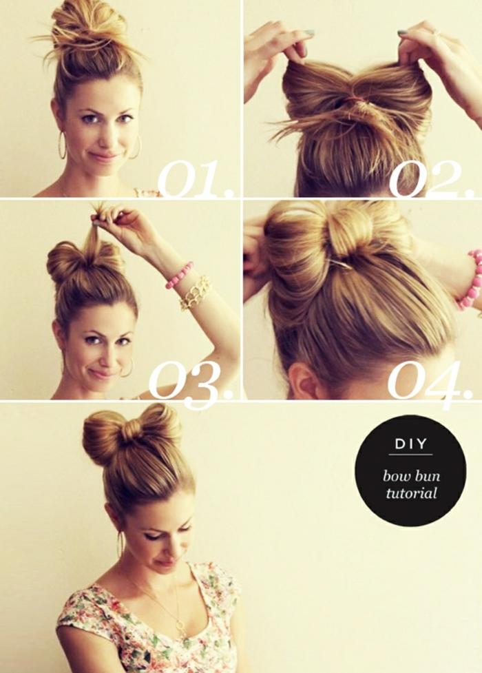 gestuft frechfrisuren halblang frisur 2020 schulterlange haare in schleife binden frau blonde haare