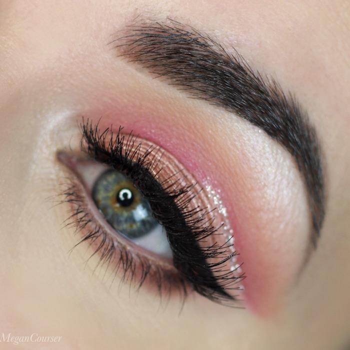 grüne augen betonen, make-up für den sommer, rosa lidschatten