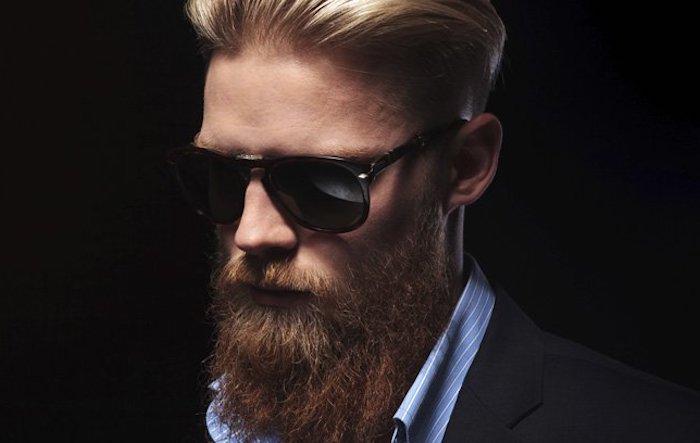 bart färben ideen dunkleblonder bart ideen blonder mann mit bart brille haare hemd anzug outfit klasse stil