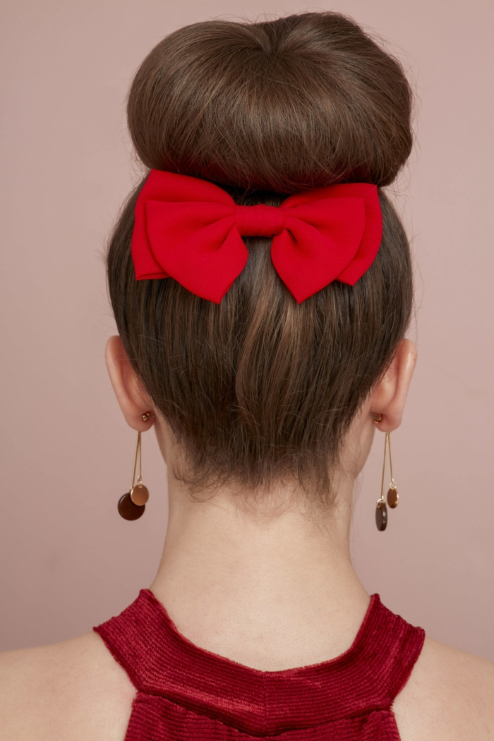 heartbraid red bow