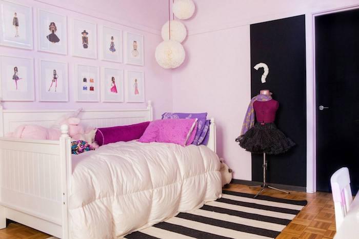 zimmer dekorieren kleines mädchenzimmer einrichten möbel ideen designer ideen gestaltung manequin wandbilder die eigenen bilder von der teenagerin