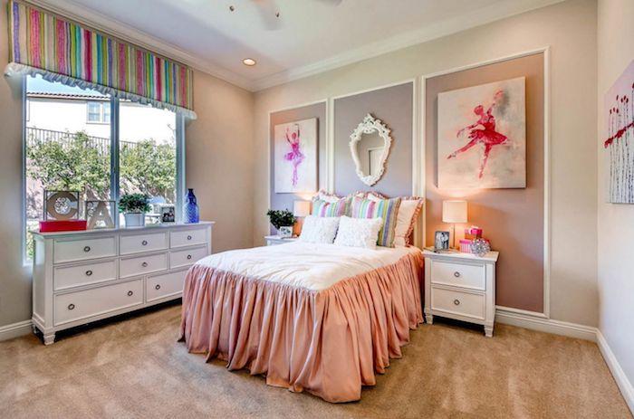 zimmer dekorieren ideen zum dekorieren und gestalten doppelbett idee schränke schubladen dezente bettdecke in pfirschfarbe
