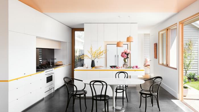 1001 einrichtungs und modeideen in apricot farbe - Wandfarbe elfenbein ...