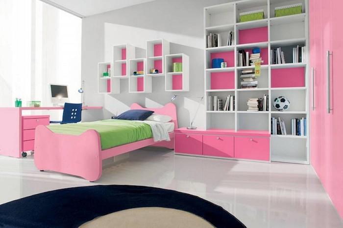 jugendmöbel in rosa und weiß zimmergestaltung teenager zimmer ideen pinke möbel einrichtungsideen weiß und rosa