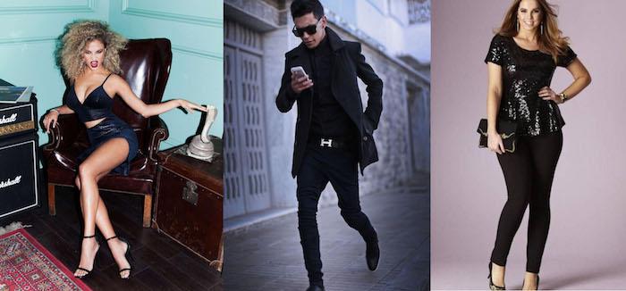 silvester outfit ideen schwarze outfits für männer und frauen damen looks festlich einfach zum stylen
