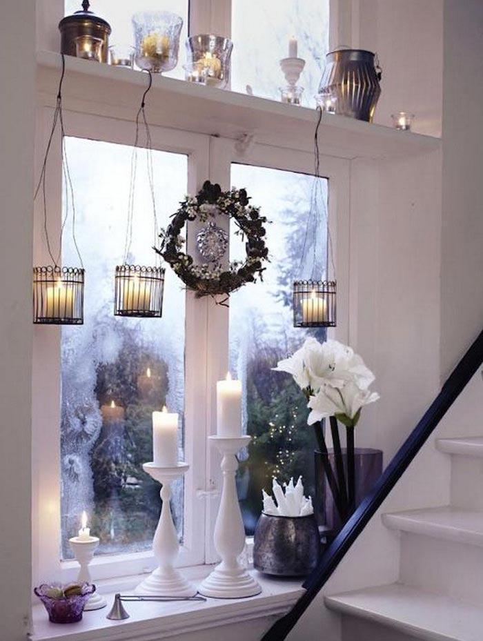fensterbeleuchtung weihnachten kerzen sind beste dekoidee zu weihnachten wärme und licht zu hause