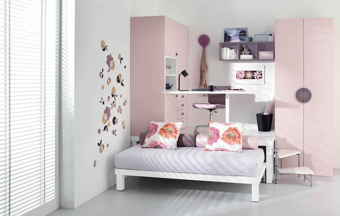 coole möbel ideen in dezenten farben rosa lila blau grau schrank ideen storen wanddeko wandtattoos stickers