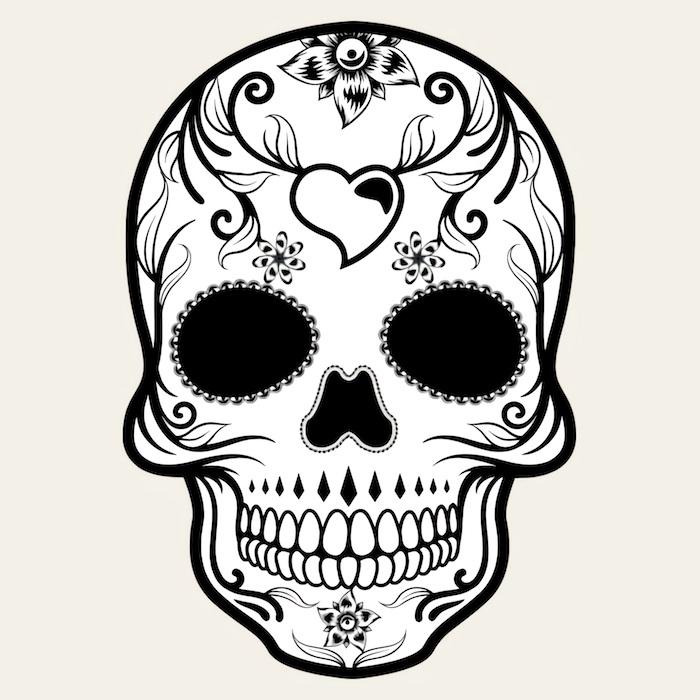 mexikanische totenmaske tattoo bedeutung zuckerschädel tattoo vorlage ideen und inspo