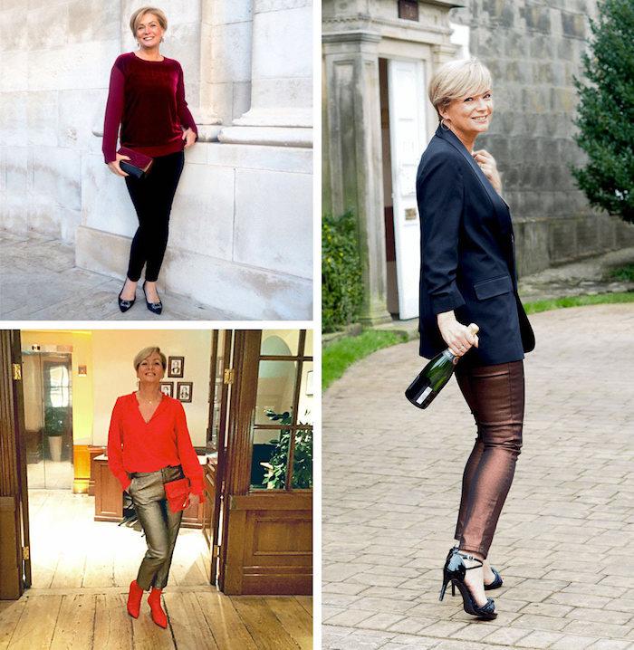 silvester outfits drei ideen von derselben frau erwachsene frauen wissen komfort und klasse können kombiniert werden